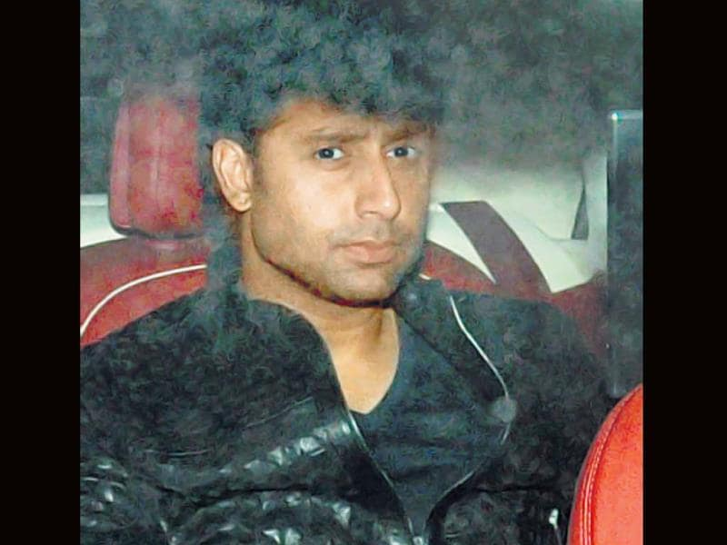 Junior Bachchan arrives for Sachin Tendulkar's party.