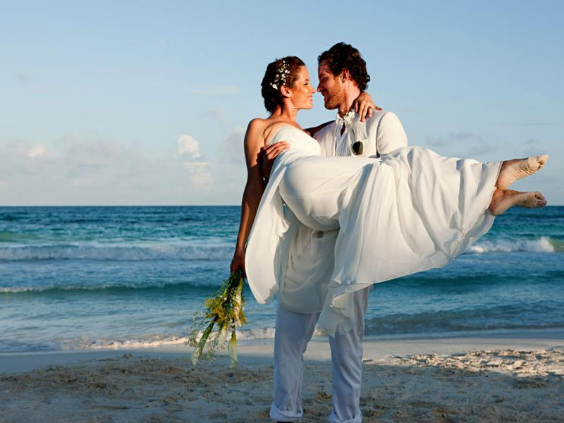 On the beach: Getting married on the beach is as unusual as it gets! Bali in Indonesia has some of the world's most spectacular beaches while the Seychelles Islands are known for their natural beauty. You could also head to the Andaman and Nicobar Islands or visit Kovalam in Kerala.