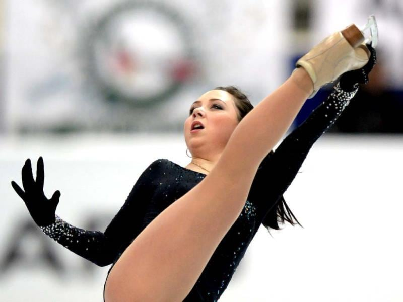 Russia's Elizaveta Tuktamysheva performs during her ladies free skating at the ISU Grand Prix of Figure Skating tournament in Moscow (AFP PHOTO).