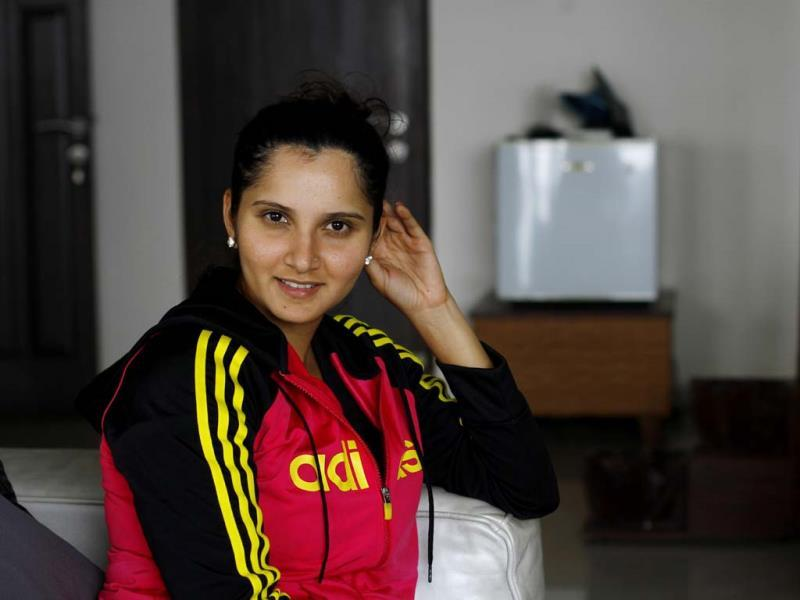 Sania Mirza relaxes in her room after a long morning practice session in Hyderabad. (Ajay Aggarwal /HT photo)
