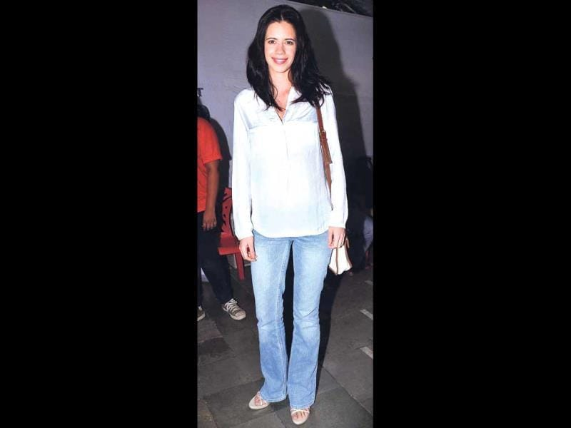 Kalki Koechlin in a formal look at an event for adoption of stray animals.