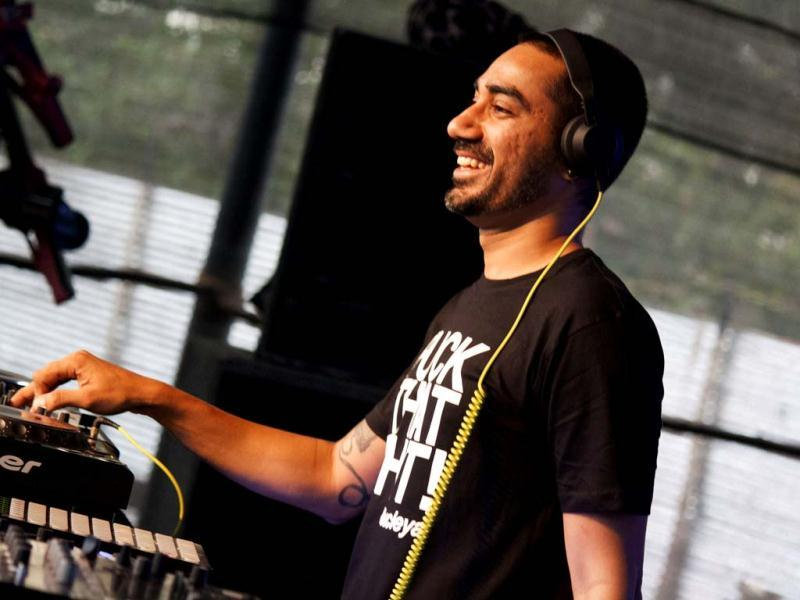 Nucleya getting it right at the Eristoff Wolves Den (Photo credit: Uday Shankera)