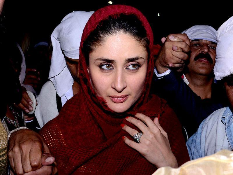 Kareena safely been taken inside. (AFP Photo)
