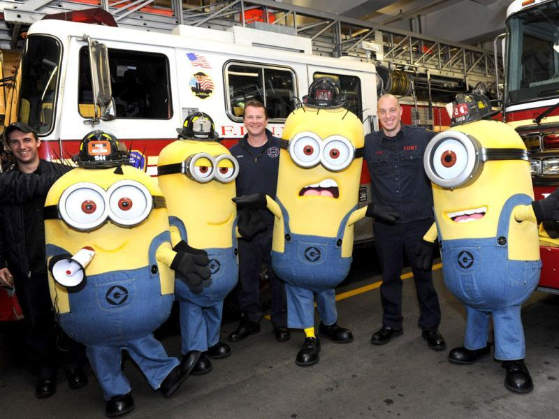 Minions firefight their hunger with directions from the Fire Department
