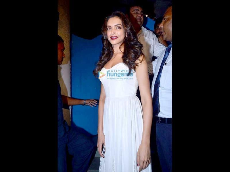 Deepika Padukone is all smiles as she attends the wrap-up bash for Finding Fanny Fernandes.