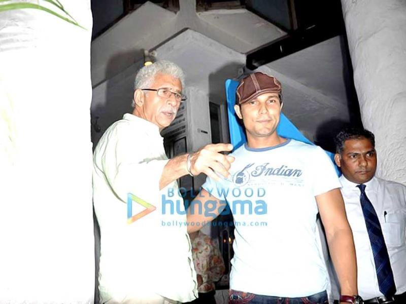 Randeep Hooda was spotted with Naseeruddin Shah.
