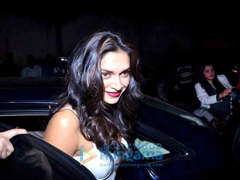 This is what success does to you! Deepika Padukone looks cheerful.