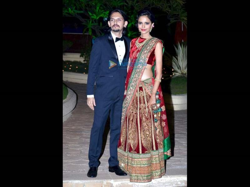Vishesh Bhatt with wife Kanika Parab.