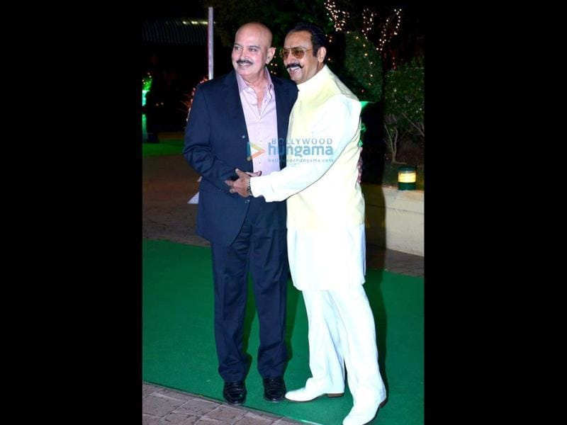 Rakesh Roshan was clicked with Gulshan Grover.