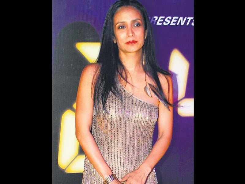 Suchitra Pillai turned up in a shimmery short dress.