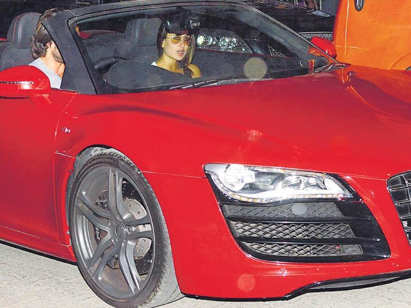 Priyanka Chopra has become the first Bollywood actress to acquire a luxury car after delivering a hit after another. Here're the other four-wheeled beauties that the actors show off.Saif Ali KhanOwns: Audi R8A few months after Saif delivered a hit with Race 2, he was seen driving around with his wife-actor Kareena Kapoor Khan in a spanking new Audi R8 Spyder. Interestingly, the actor launched the same vehicle while promoting the Abbas-Mustan film in Delhi.