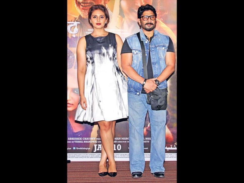 Arshad Warsi and Huma Qureshi display a palpable chemistry in Dedh Ishqiya. While Huma is 5.7 ft, Arshad Warsi is 5.5 ft. (Pic: Yogen Shah)