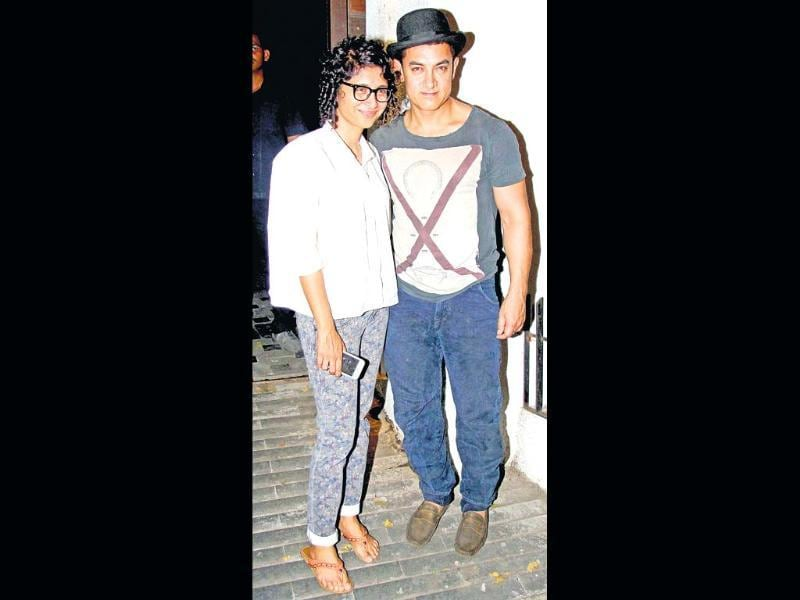 Aamir Khan and wife Kiran Rao hosted a party to celebrate the second birthday of their son, Azad.
