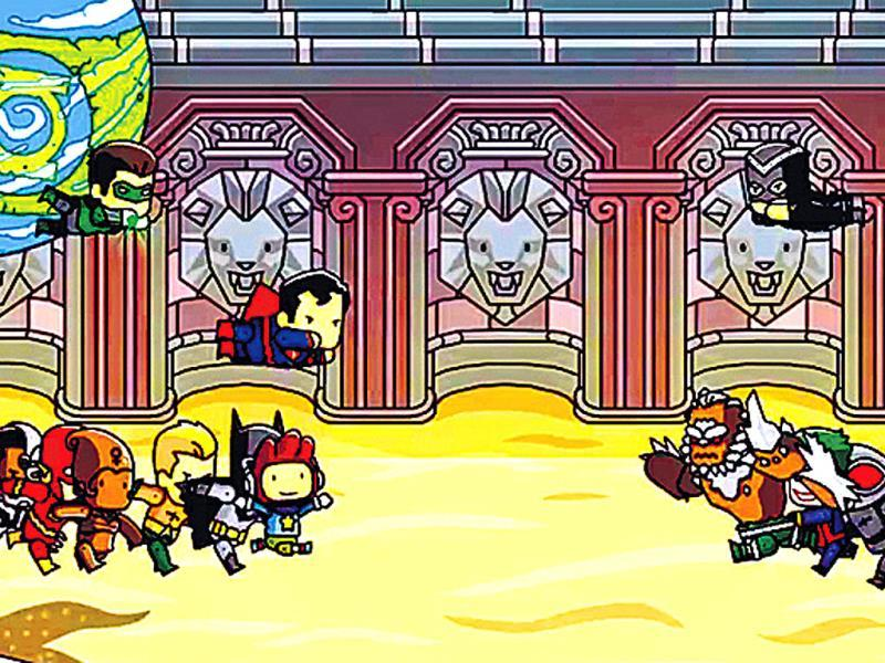 Scribblenauts Unmasked: A DC Comics AdventureThe game by 5th Cell has a protagonist, a boy called Maxwell, solving riddles with some help from characters from the DC Universe to level up. Players can seek help from Superman to solve a puzzle or try to outsmart the Joker as they travel through Gotham City, Metropolis, Atlantis and other iconic locales from comic books.