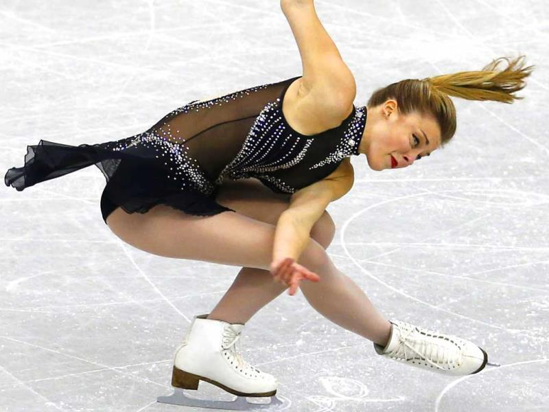 Ashley Wagner of the United States performs during the short program of the Grand Prix Final figure skating competition at Marine Messe Fukuoka in Fukuoka, western Japan.(AP Photo)