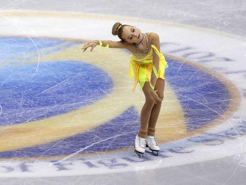 Elena Radionova of Russia performs during the short program of the Grand Prix Final figure skating competition at Marine Messe Fukuoka in Fukuoka, western Japan. (AP Photo)