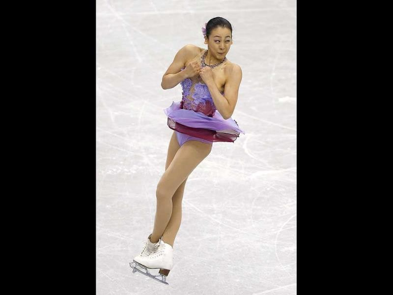 Mao Asada of Japan performs during the short program of the Grand Prix Final figure skating competition at Marine Messe Fukuoka in Fukuoka, western Japan. (AP Photo)