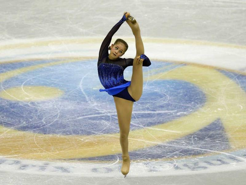Julia Lipnitskaia of Russia performs during women's short programme at the ISU Grand Prix of Figure Skating Final in Fukuoka, southwestern Japan. (Reuters)