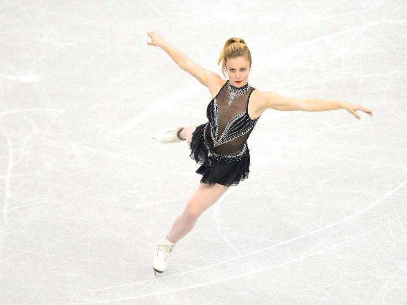 Ashley Wagner of the US performs during the women's short program of the ISU figure skating Grand Prix Final in Fukuoka, western Japan. AFP photo