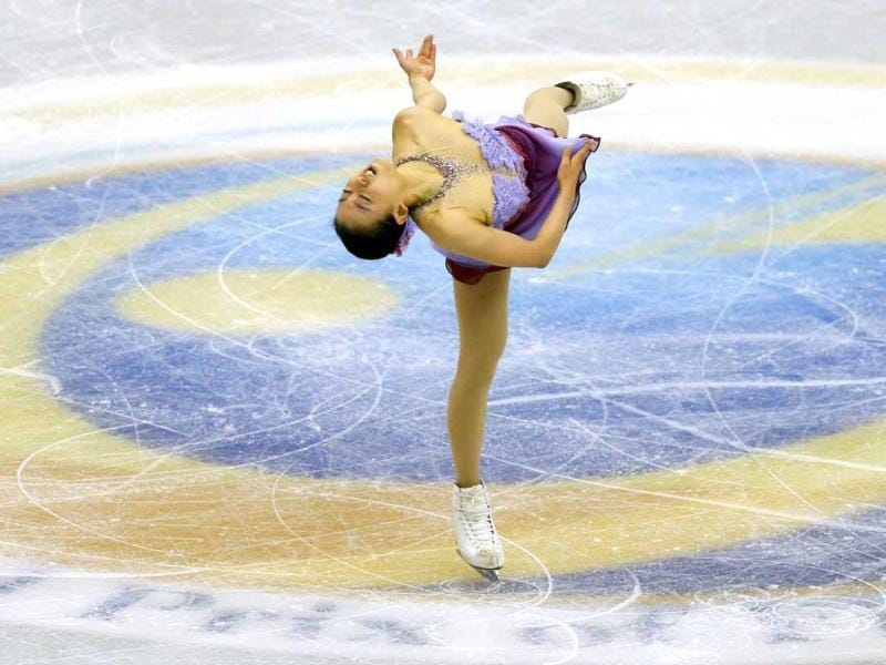 Mao Asada of Japan performs during women's short programme at the ISU Grand Prix of Figure Skating Final in Fukuoka, southwestern Japan. (Reuters)