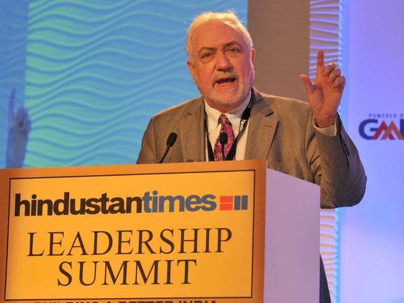 Dr Ignacio Campino, director, Desertec Founder, addressing a gathering during the Hindustan Times Leadership Summit. (Gurpreet Singh/ HT Photo)