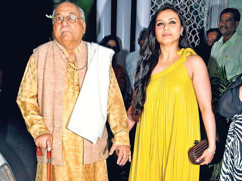 Rani Mukerji attended the bash with her father, Ram Mukherjee.