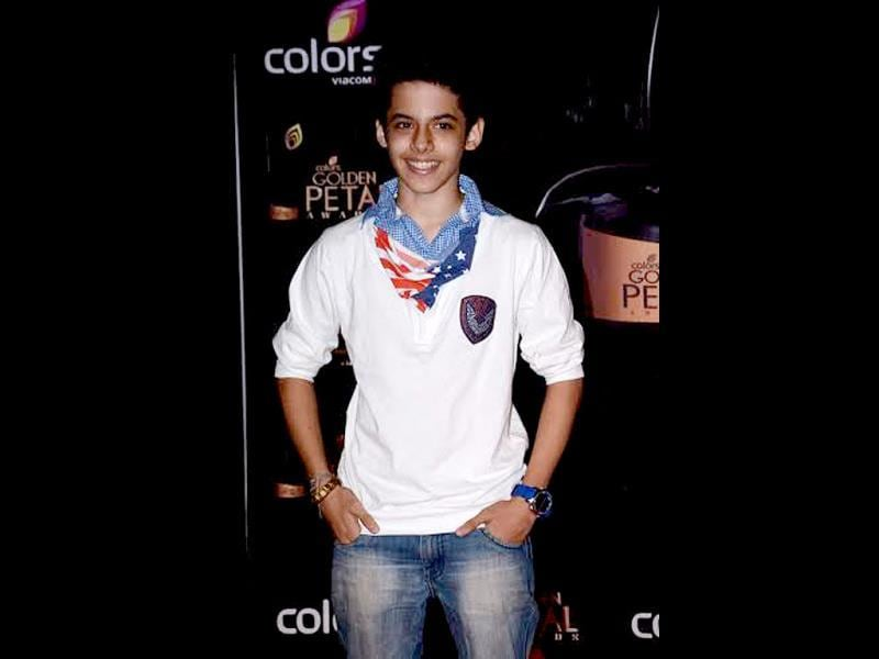 Actor Darsheel Safary strikes a pose for camera.
