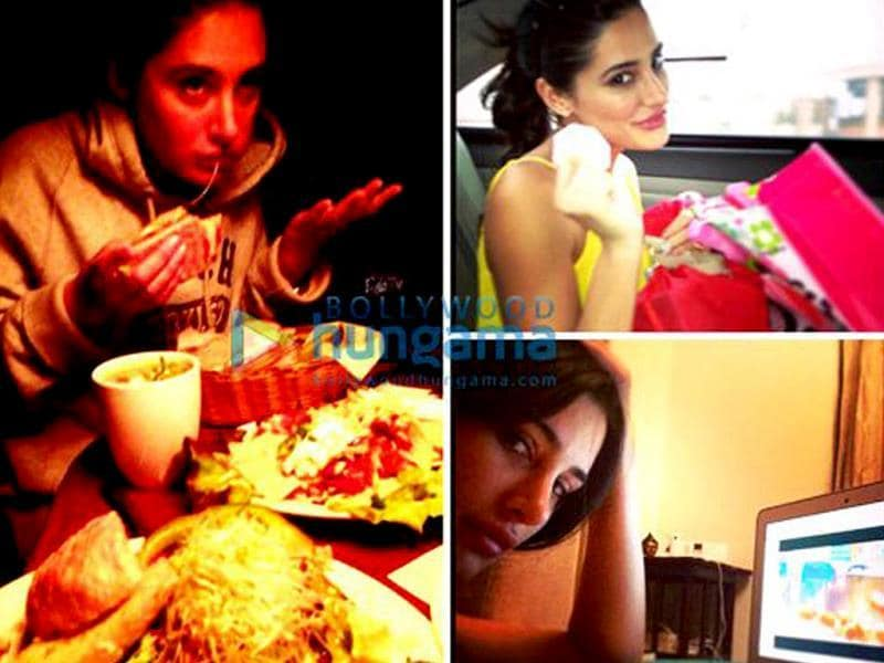 Nargis follows randomness. This stylish diva prefers to keep her clicks candid and doesn't need a picture perfect moment. She believes in capturing the simplest ones: be it a mega feast, time spent in front of the laptop or opening a sweet present, all of them deserve a chance to get noticed.