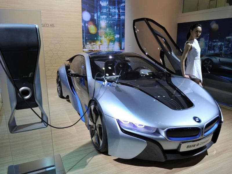 Economic and exciting, the BMW i8. Photo:AFP