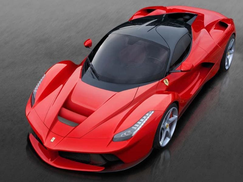 The LaFerrari: making hybrid power desirable. Photo:AFP
