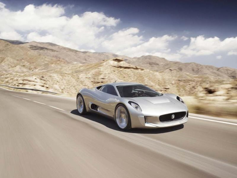 Before its time: the Jaguar C-X75 concept. Photo:AFP