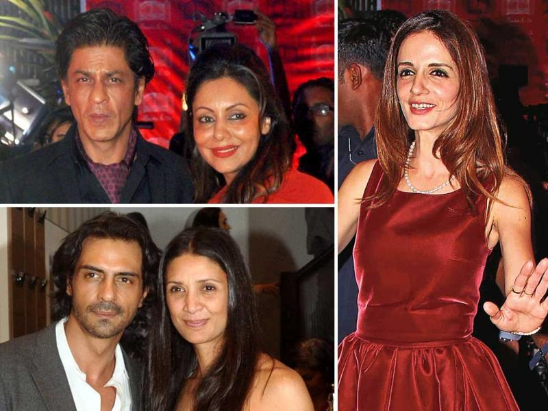 Sussanne Roshan made her first appearance post her split with Hrithik, at her store launch in Mumbai. SRK-Gauri and Arjun-Mehr were among the stars that graced the event.