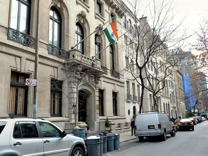 The consulate general of India building on East 64th Street in New York. (AFP)