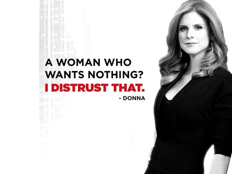 Donna Paulsen is Harvey's legal secretary and close confidante. A romantic angle may also be in the offing.