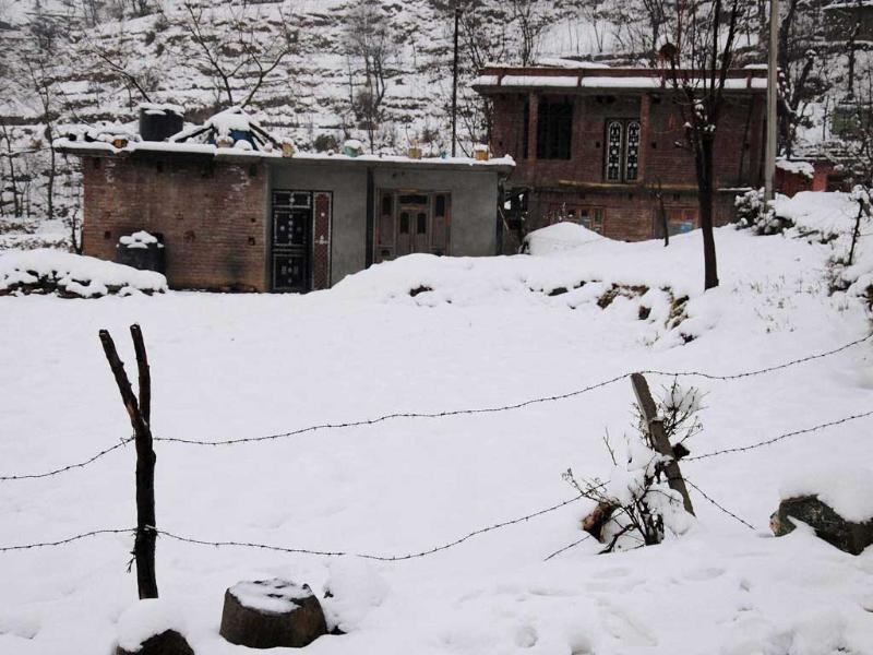 A snow-clad park at Pir Gali during snowfall. (PTI)