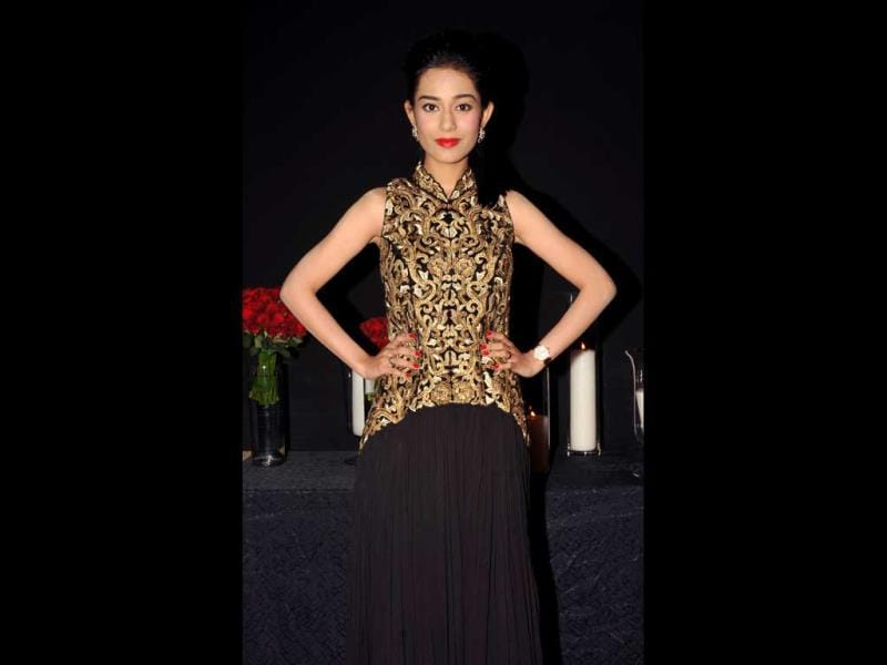 If looks could kill: Amrita Rao puts her best foot forward.