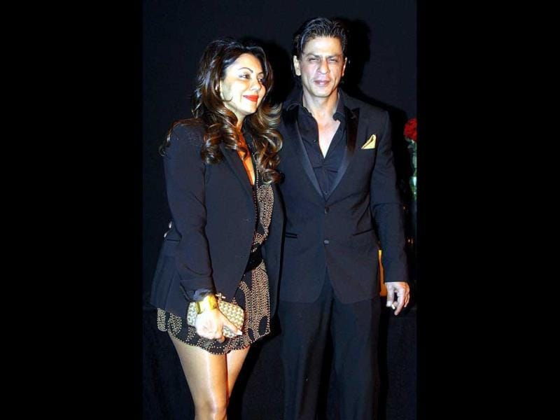 Couple chemistry: SRK and Gauri look very much in love.