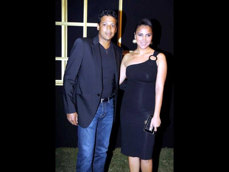 New mom and dad: Lara Dutta with hubby Mahesh Bhupathy.