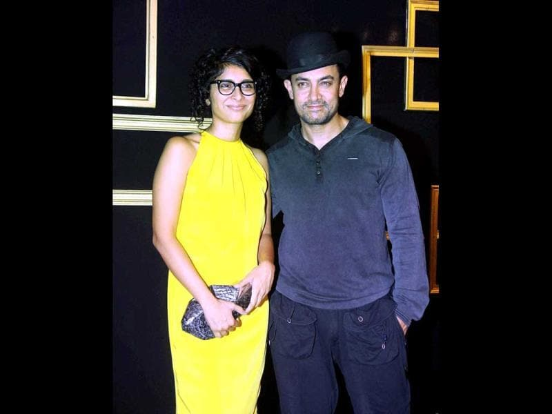 Awesome twosome: Aamir Khan and Kiran Rao also attended the party.