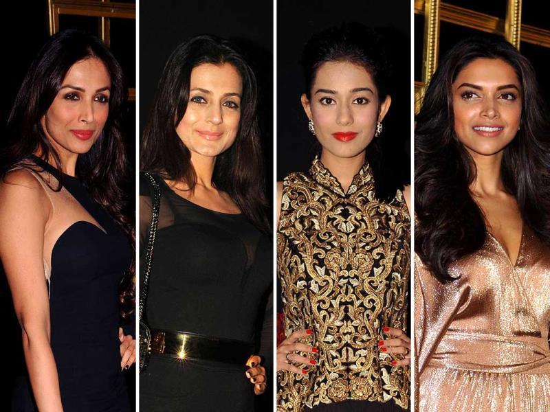 Bollywood was in full attendance at Deepika Padukone black-and-gold theme party. Check out who all made it to the event.