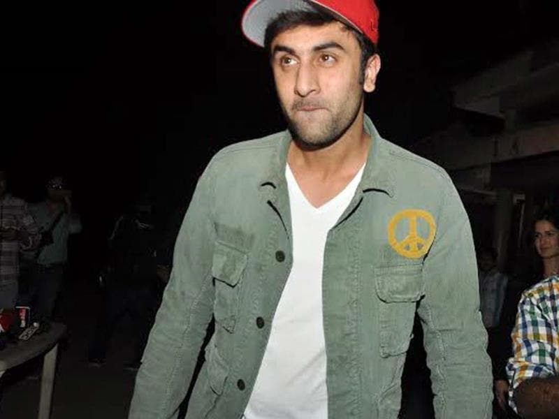 Ranbir Kapoor clicked at the screening of The Wolf of Wall Street.