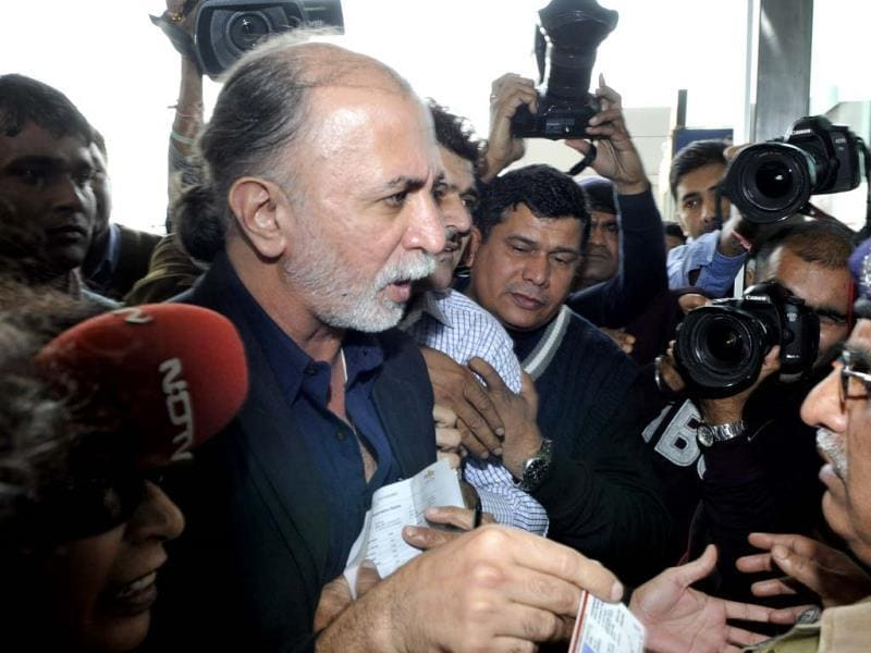 Tarun Tejpal made headlines for all the wrong reasons in November. He has been accused of sexually assaulting a junior woman employee. (HT Photo/Vipin Kumar)