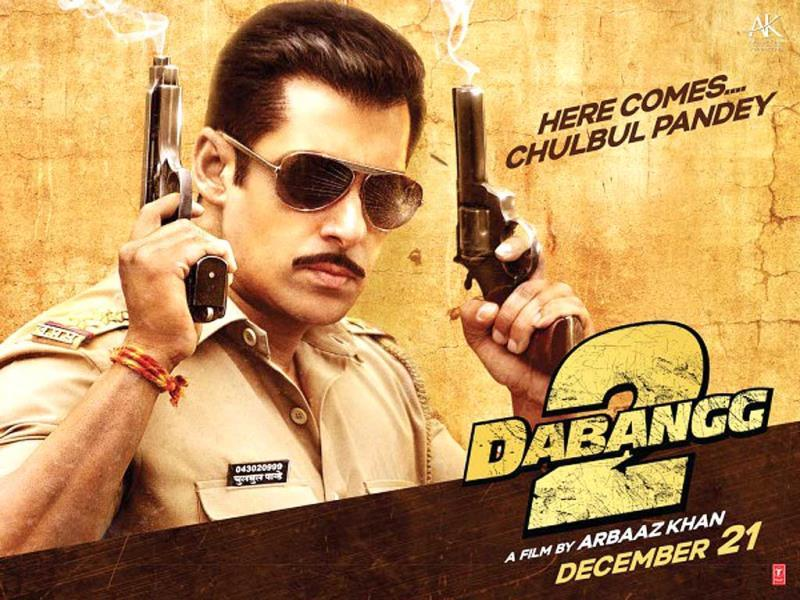 Chulbul Pandey hit the bull's eye at the box office for the second time with Dabangg 2.