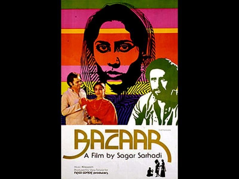 Bazaar (1982) dealt with the sad plight of young girls sold by needy parents to affluent Indians. The film is based in Hyderabad. Farooq Sheikh plays the young and impressionable Sarju.