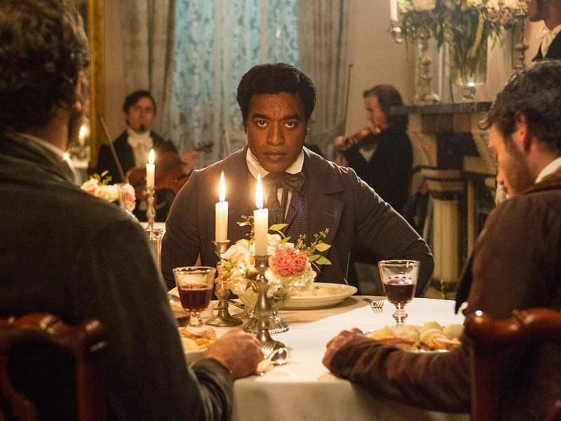 Chiwetel Ejiofor plays the protagonist Solomon Northup in 12 Years A Slave.