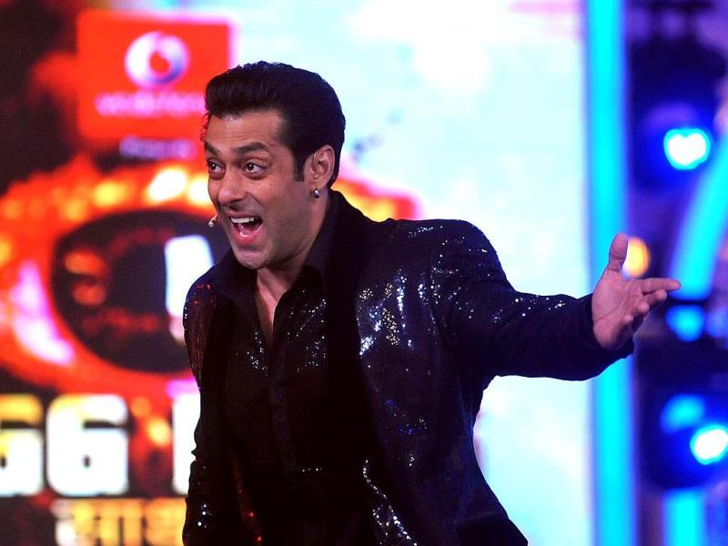 Bigg Boss 7 host Salman Khan during the show's finale.
