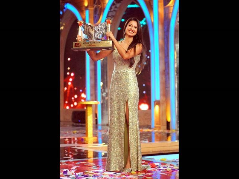 Gauhar Khan excited after winning Bigg Boss 7.