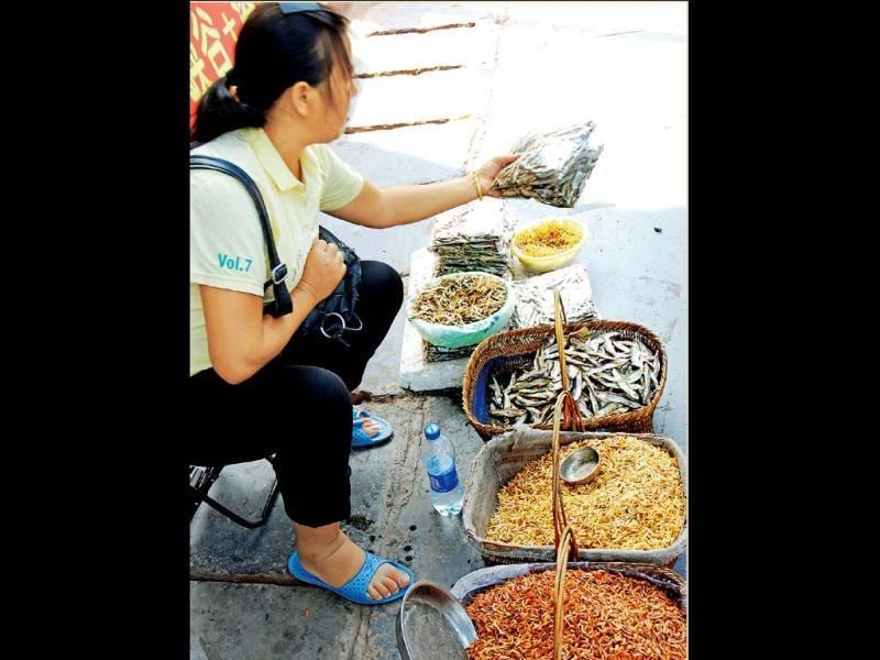 If you're one for dried fish, you'll find them everywhere in Hunan