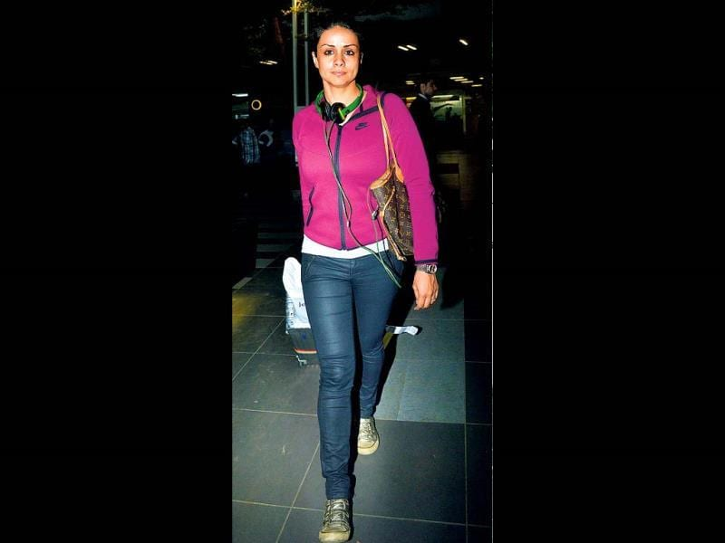 Just a day ahead of her birthday, actress Gul Panag was spotted at Mumbai airport.