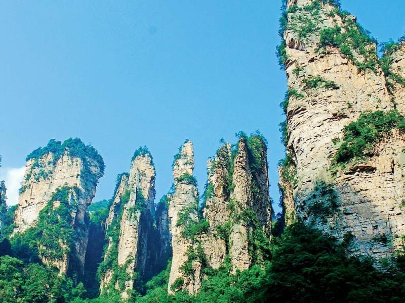 Zhangjiajie National Forest Park: recognise this? This is where much of the James Cameron film Avatar was shot